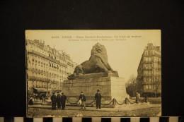 CP, 75, PARIS, N°1059, Place Denfert-Rochereau - Le Lion De Belfort, Voyagé En 1917 - Squares