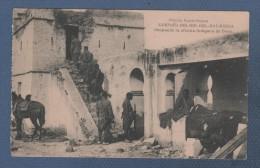 MILITARES - CP CAMPAÑA DEL RIF 1921 - RAS MEDUA - OCUPANDO LA OFICINA INDIGENA DE TELAT - Otras Guerras