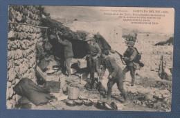 MILITARES - CP CAMPAÑA DEL RIF 1921 - OCUPACION DEL ZAIO - RECOGIENDO LOS ENSERES DE LA COCINA DE OFICIALES EN UN ... - Otras Guerras