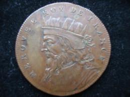 Medaille Merovee Bronze 33 Mm 14,25 Gramm - Royal / Of Nobility