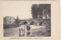 CP BAZOCHE 02 AISNE PONT DE LA VESLE RUINES DU MOULIN - France