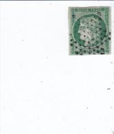 France Emission 1849,n 2c , 15 C Vert Tres Foncé, Oblitération étoile, Petit Clair Sinon Tres Beau - 1849-1850 Cérès