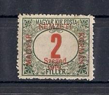 Hongrie Szeged Occupation 1919 YT Taxe 1 Mi 1 * - Szeged