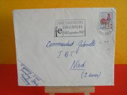 Flamme - 67 Bas Rhin, Strasbourg, Foire Européenne - 9.8.1963 - Marcophilie (Lettres)