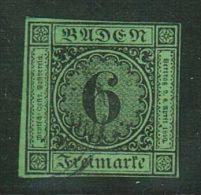Baden // 1851-52 No. Y&T  No. 3 (vert-jaune) - Bade