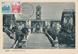 D19486 CARTE MAXIMUM CARD 1958 FRANCE - CITY HALL ROME CP ORIGINAL - Architecture