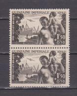 FRANCE / 1942 / Y&T N° 543 ** (x 2 En Paire) : Quinzaine Impériale - Gomme D´origine Intacte - France
