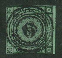 Baden // 1851-52 No. Y&T  No. 3 (vert-bleu) - Bade