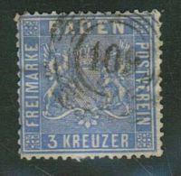 Baden // 1860-1861 No. Y&T  No. 10 (outremer) - Bade