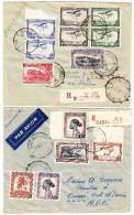 Belgisch Kongo 2 Luftpost R-Briefe 1945 Von Basankusu Nach Oumé A.O.F. - Poste Aérienne: Lettres