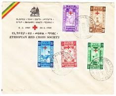 Ethiopie Lettre Commémorative 8.5.1950 A-Arera Croix Rouge - Rotkreuz Satzbrief - Ethiopie