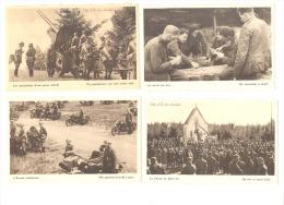 ARMEE BELGE - Lot de 12 CP- Militaire, soldat, canon, véhicule, avion,...Publici