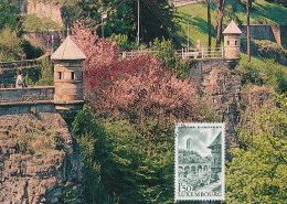 D19496 CARTE MAXIMUM CARD 1990 LUXEMBOURG - SPANISH TOWERS CP ORIGINAL - Architecture