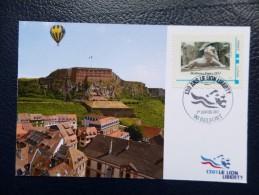 """FRANCE 2011  """"130 Ans Du Lion Liberty"""" Envoi Par Ballon (cachet ´vol Annulé Pour Cause D´intempéries"""") - Bolli Commemorativi"""
