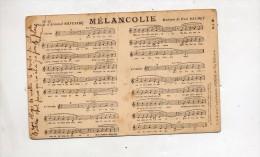 Carte Musique Poeme Melancolie Cachet - Andere
