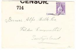 Lourenzo Marques Zensur Brief Nach Stalden I. E. Schweiz - Lourenco Marques