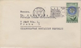 Ireland; Cover W. Europe (CEPT) Stamp 1965 To CSR - 1949-... République D'Irlande