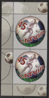 Sport 436) Fußball Lettland Mi# 709 (2) **: 100 Jahre Profifußball In Lettland ('Der Ball Ist Rund') - Fussball
