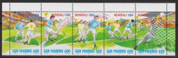 Sport 437) Fußball WM 1994: San Marino Mi# 1577-1581 ** Zshgd: Spielszenen - World Cup