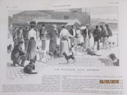 1903 Le Marché Aux Chiens  Paris  + Ernest Legouvé - Sin Clasificación