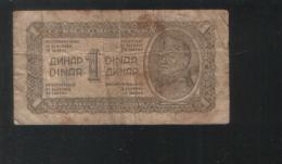 YUGOSLAVIA 1 Dinar 1944 - Yugoslavia