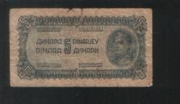 YUGOSLAVIA 5 Dinara 1944 - Yougoslavie