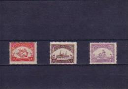 1923 TURKEY TURKISH LEAGUE OF THE RED CRESCENT CHARITY STAMPS MINT WITHOUT GUM - 1921-... République