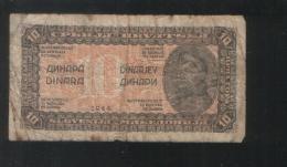 YUGOSLAVIA 10 Dinara 1944 - Yugoslavia