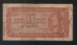 YUGOSLAVIA 20 Dinara 1944 - Yugoslavia