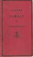 CARNET COMBAT ANGLETERRE NAVIRE FLOTTE MARINE GUERRE ROYALE NAVY IDENTIFICATION RENSEIGNEMENT 1900 - Livres