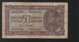 YUGOSLAVIA 50 Dinara 1944 - Yugoslavia