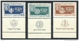 Israel - 1949, Michel/Philex Nr. : 19 - 21  - Jüdisches Neujahrsfest  - MNH, Postfrisch. - Israel