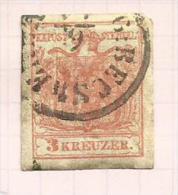 Autriche N°3(A) Côte 6 Euros - 1850-1918 Empire
