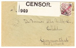 Mosambik Zensur Brief Nach Stalden I. E. Schweiz AK-Bahnstempel - Mozambique