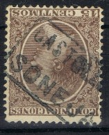 X 178. Sello 15 Cts Alfonso XIII Pelon, Carteria Oficial II De SONEJA (Castellon), Num 219 º - 1889-1931 Reino: Alfonso XIII