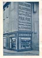 Carcassonne - Document Publicitaire Horlogerie Bijouterie Jaures - Reclame