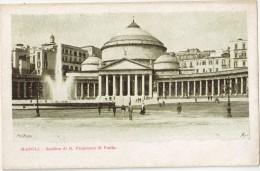 CPA Animée - NAPOLI (Italia) - Basilica Di S.Francesco Di Paola - Napoli
