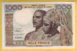BANQUE DE L´ AFRIQUE DE L´OUEST - Côte D´Ivoire - Billet De 1000 Francs. 20-03-1961 - NEUF - Côte D'Ivoire