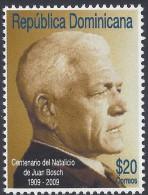Dominican Pres. Juan Bosch Sc 1469 MNH 2009 - Dominican Republic