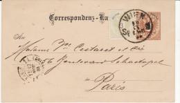Entier Postal - Carte (Wien) VIENNE Pour PARIS (cachet : PARIS 11 DISTRIBUTION 1884) (Lot LE 11) - Briefe U. Dokumente