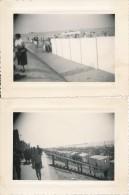 Lot De 2 Photos Amateurs Belgique BLANKENBERGE 1954 - Photographie Ancienne No CPA - Blankenberge