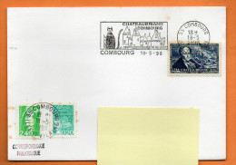 35 COMBOURG   CHATEAUBRIAND          ( Flamme Concordante ) 18 / 5 / 1998  Lettre Entière N° R 985 - Postmark Collection (Covers)