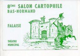 Salon - Falaise / Invitation à L'Inauguration Du 8 éme Salon Cartophile Bas Normand 1986 - Announcements