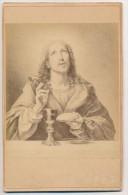 Photographie Ancienne Albuminée Contrecollée Sur Carton Portrait De Jésus Christ L'Eucharistie - Otros