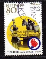 Japon 2011, Y&T N° 5500, Sport, Equitation, Jumping, Volley-ball - Gebruikt
