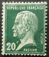 FRANCE Type Pasteur N°172 Oblitéré - 1922-26 Pasteur