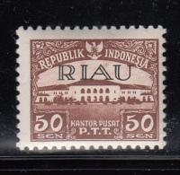 Indonesia - Riau Archipelago MH Scott #11 Overprint On 50s Indonesia - Indonésie
