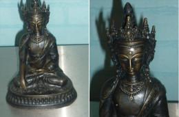 STATUE Ancienne Asiatique TIBET En Bronze - Autres Collections