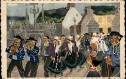 29 - PLOUGASTEL-DAOULAS - Une Noce - Mariage Breton - Carte Illustrée Par HOMUALK - Plougastel-Daoulas