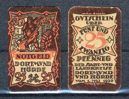 Deutschland Notgeld Dortmund Hörde 25 Pfennig 1.3.1920 Erhaltung  I - [11] Local Banknote Issues